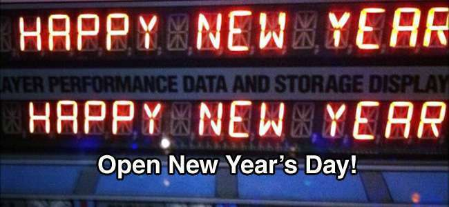 OPEN Regular Hours New Year's Day – Friday January 1