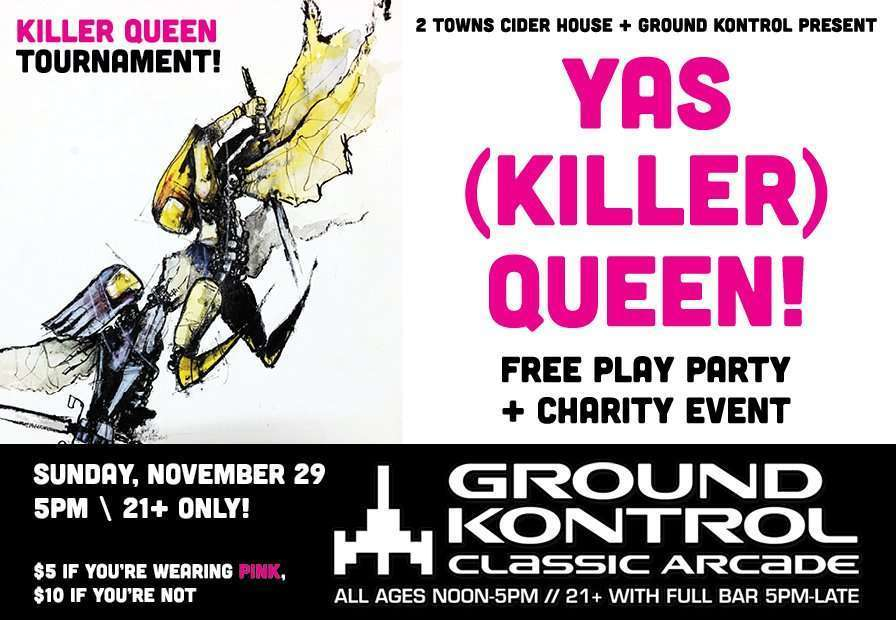 Image for YAS (Killer) QUEEN: Free Play Party & Charity Event – Sunday 11/29, 5pm