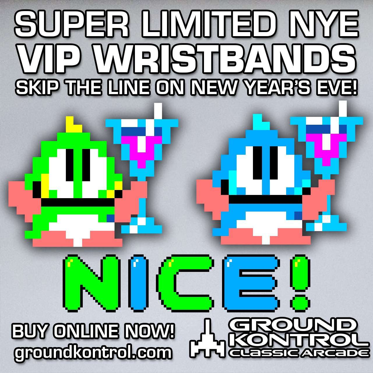 Now Available: New Year's Eve 2016 VIP Wristbands – While They Last!