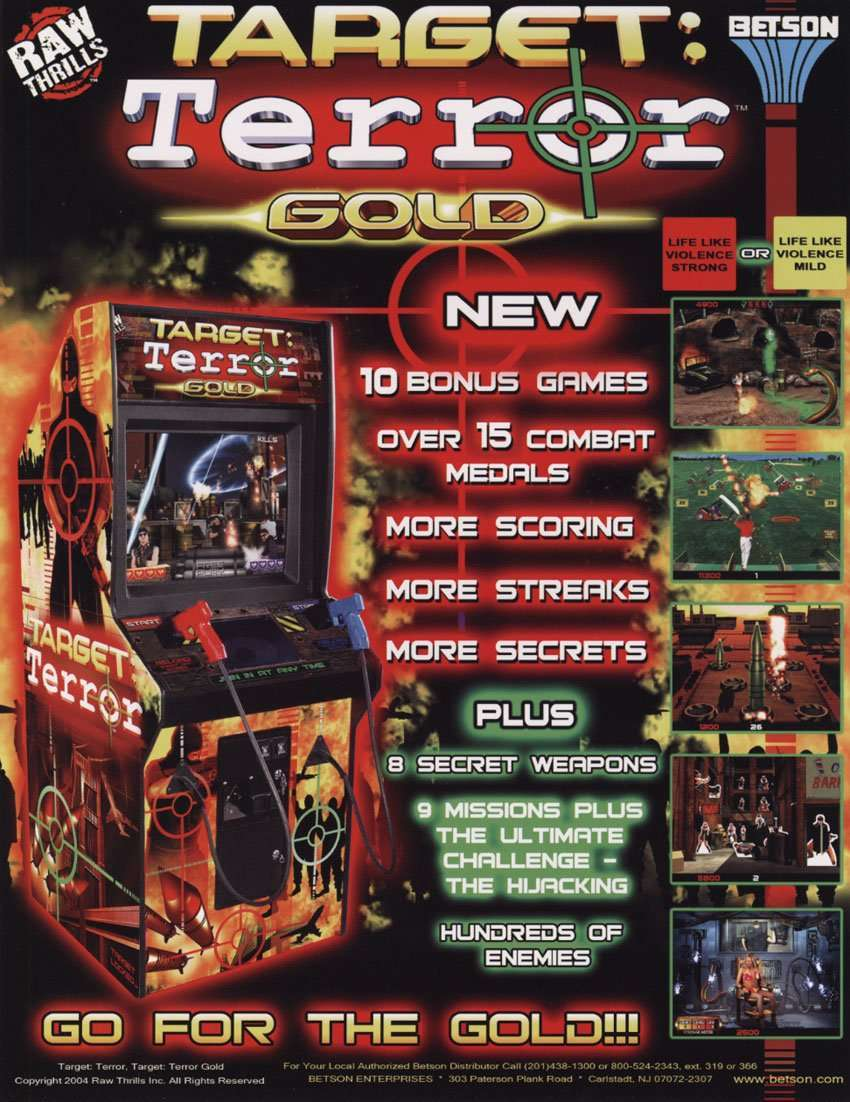 New in the Arcade – Target: Terror Gold