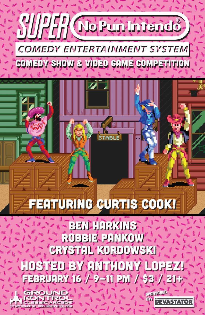 Image for No Pun Intendo featuring Curtis Cook – Thursday 2/16, 9pm