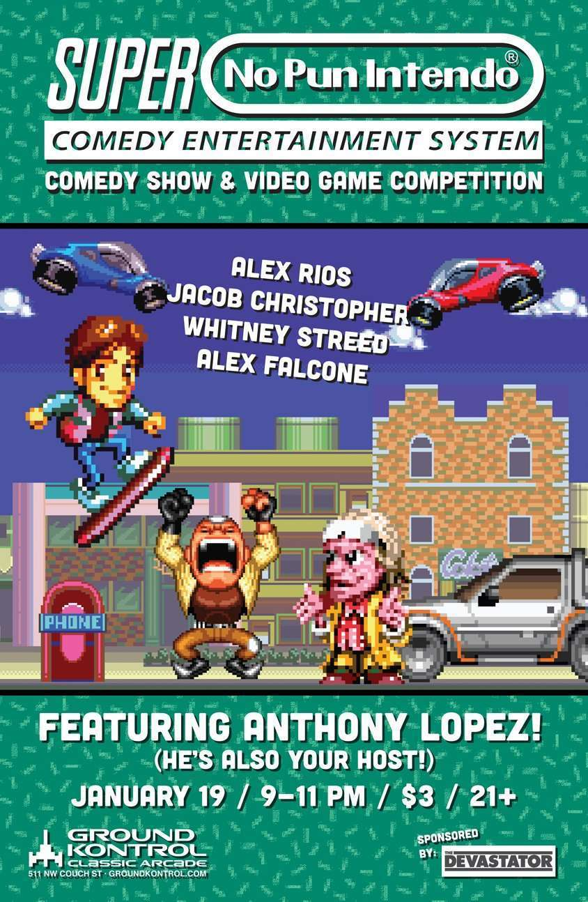 Image for No Pun Intendo featuring Anthony Lopez – Thursday 1/19, 9pm