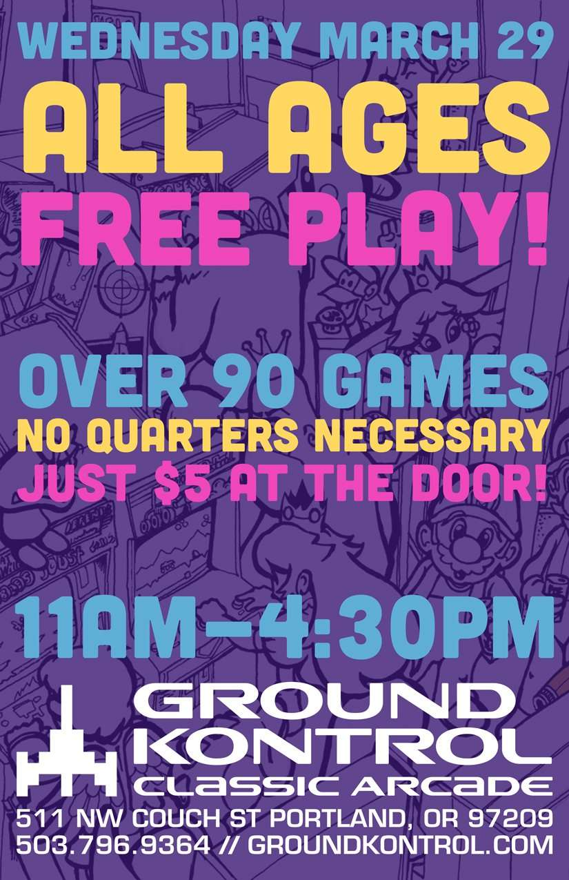 All Ages Free Play Party – Wednesday 3/29, 11am-4:30pm