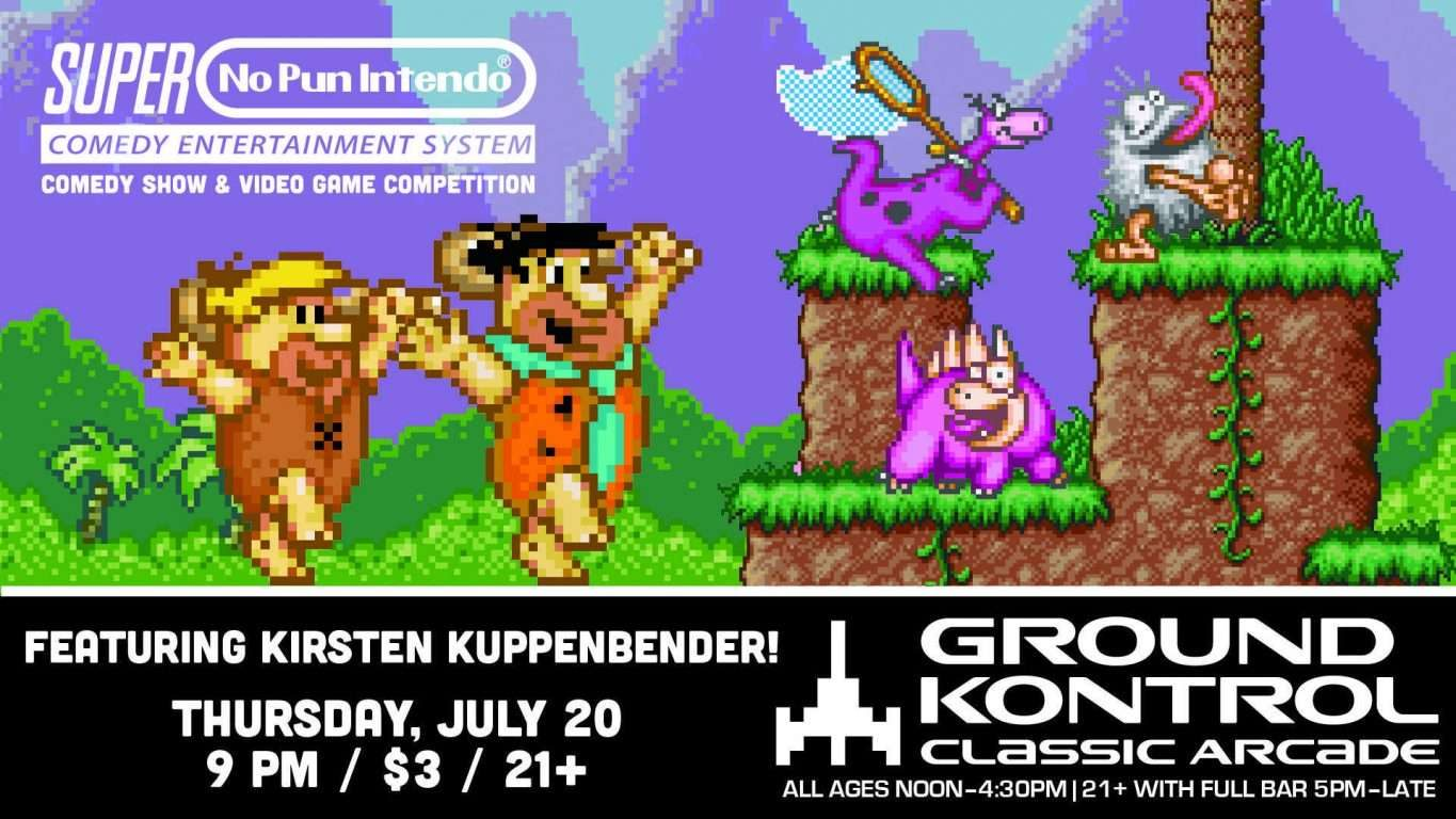 No Pun Intendo - Stand-Up Comedy Night Featuring Kirsten Kuppenbender!