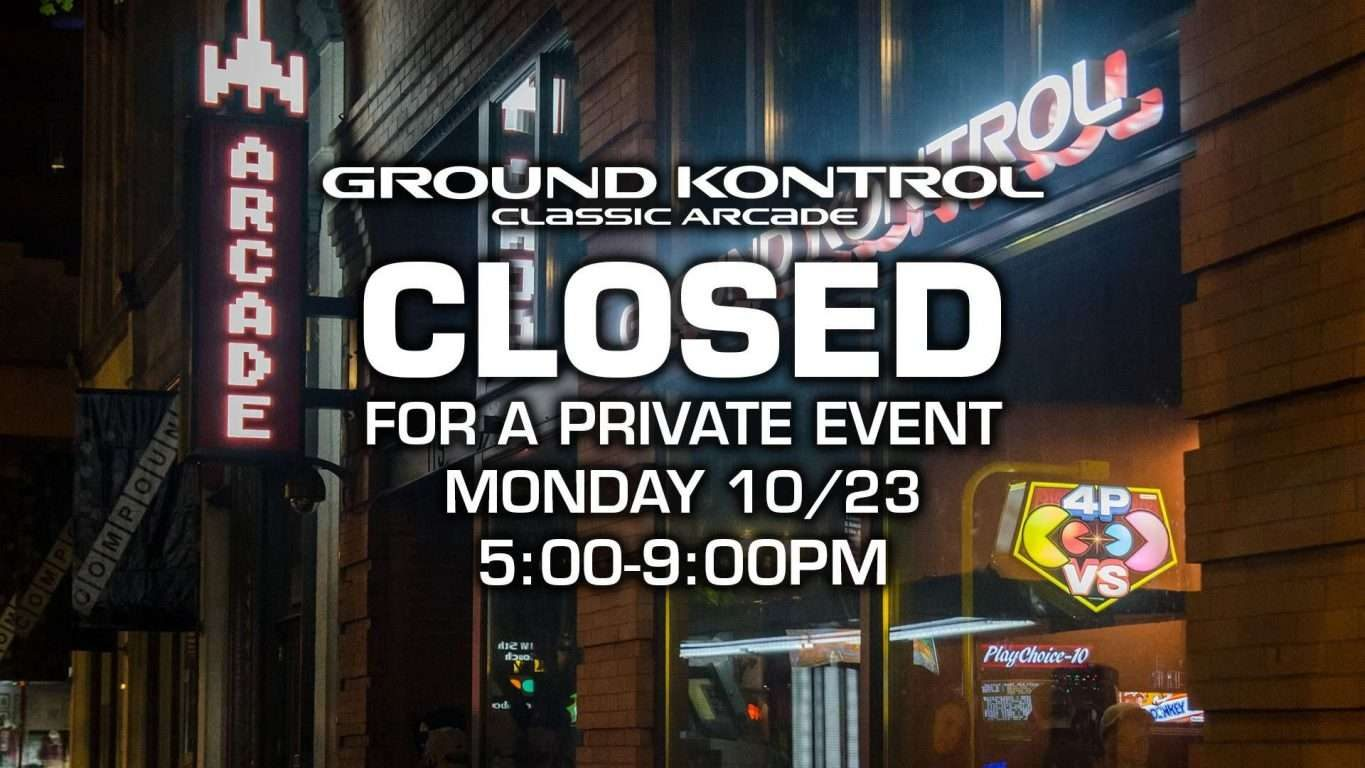 CLOSED For a Private Event from 5-9pm
