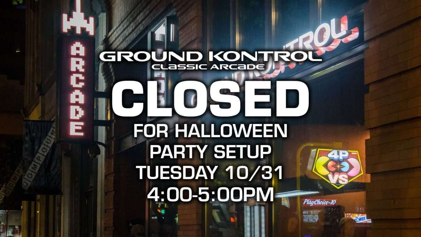 Closed from 4-5pm for Free Play Party Setup!