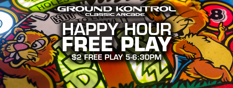 Happy Hour Free Play – Thursday 6/23, 5-6:30pm