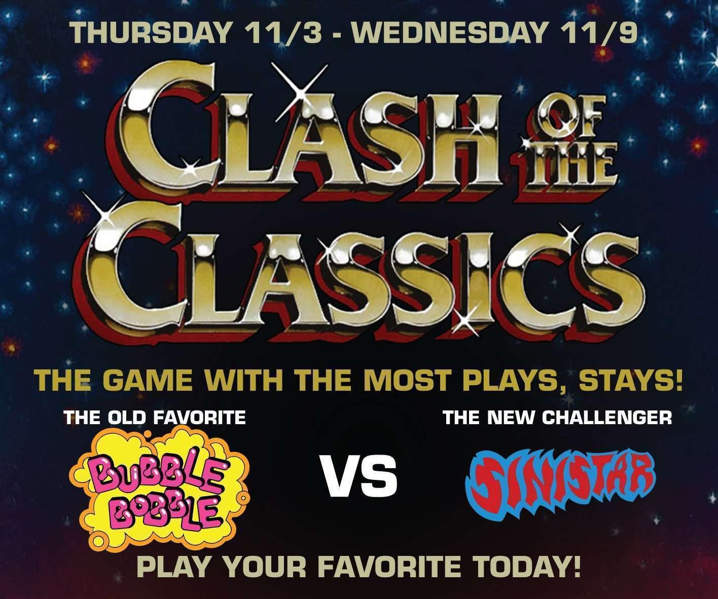 Clash of the Classics – Bubble Bobble VS Sinistar