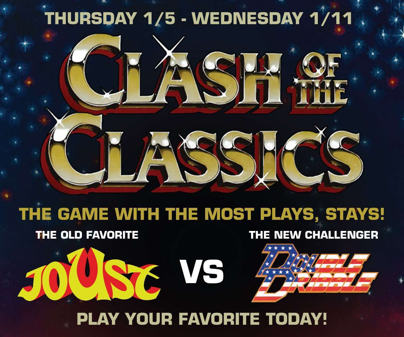 Clash of the Classics – Joust VS Double Dribble