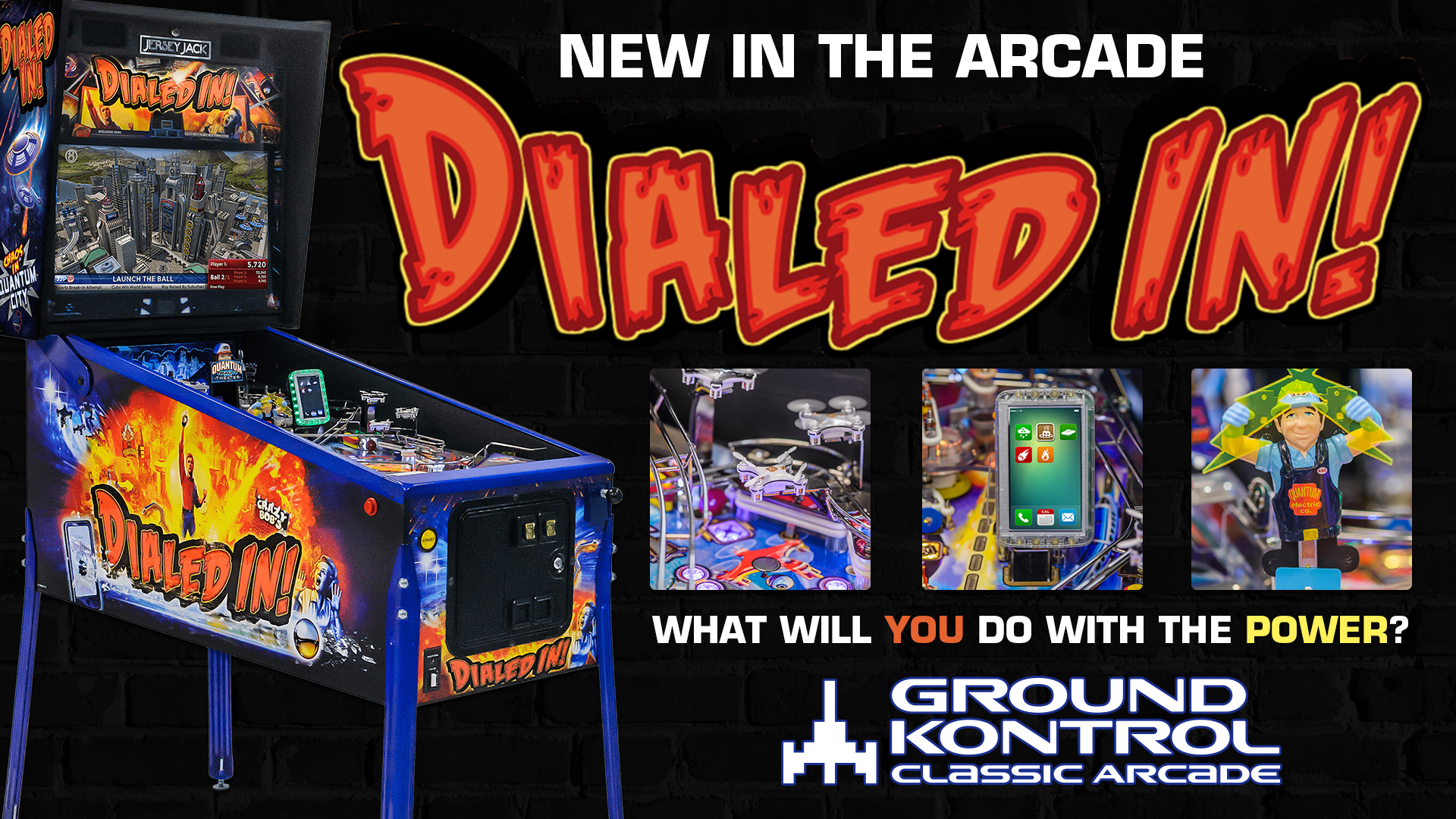New In The Arcade – Dialed In! (Jersey Jack, 2017)