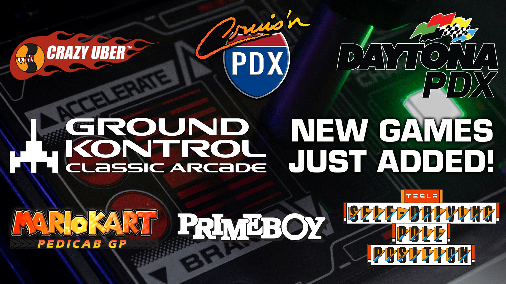 Exclusive New Games at Ground Kontrol!