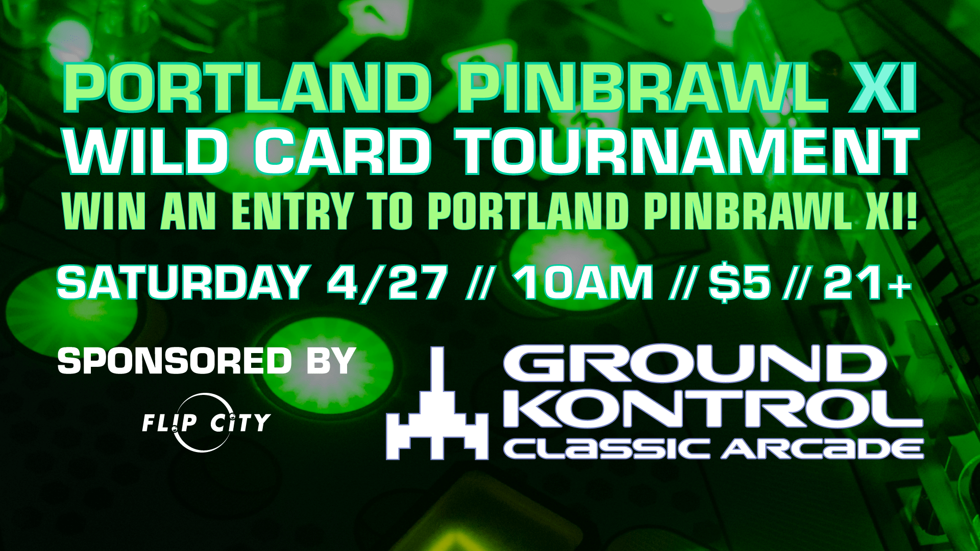 Portland Pinbrawl XI – Our 11th Annual Pinball Tournament – Sunday 4/28