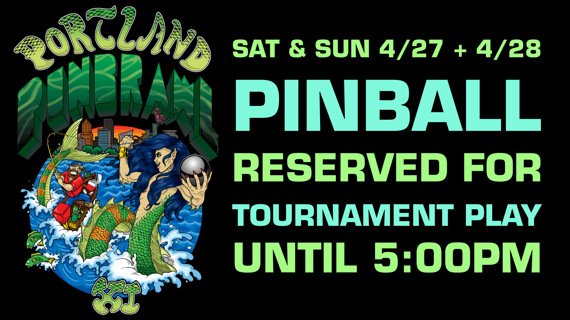 Portland Pinbrawl XI Weekend Limited Pinball Availability