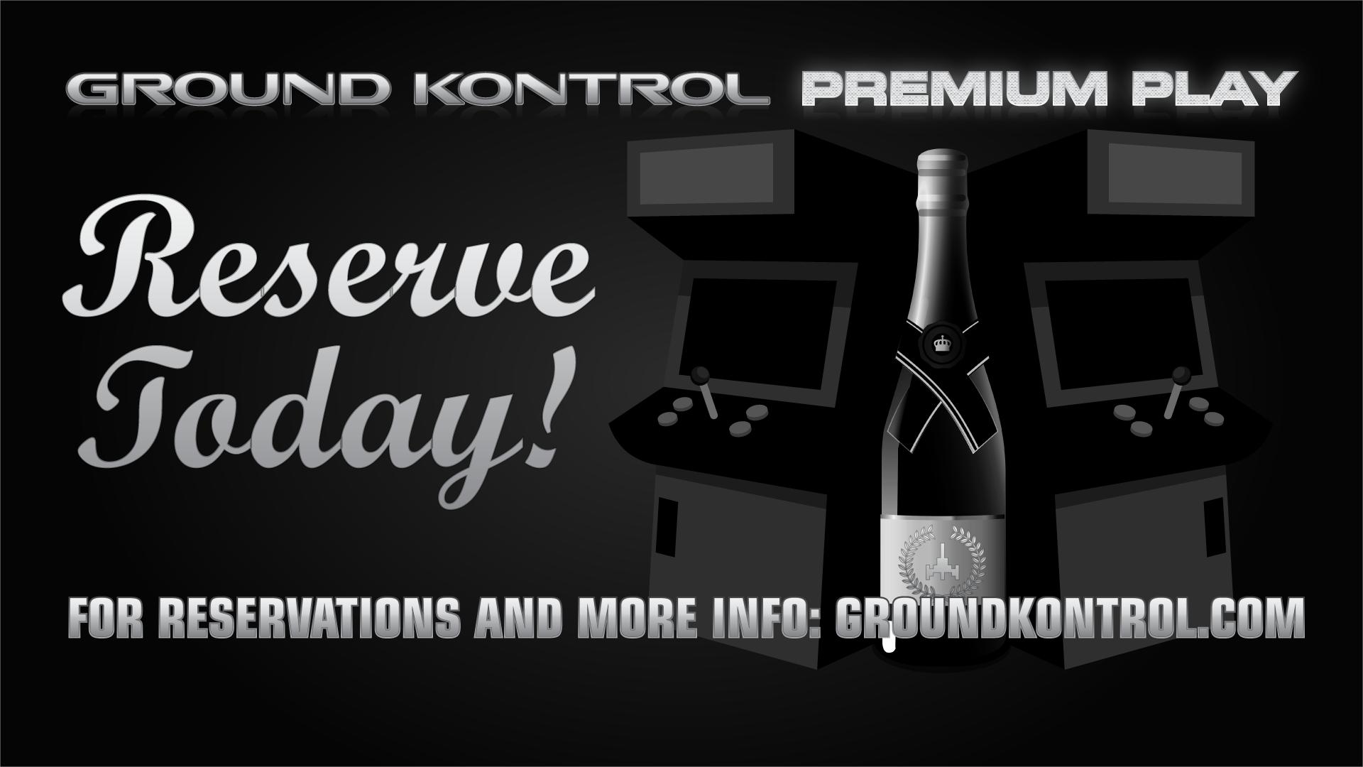 Introducing Ground Kontrol Premium Play!
