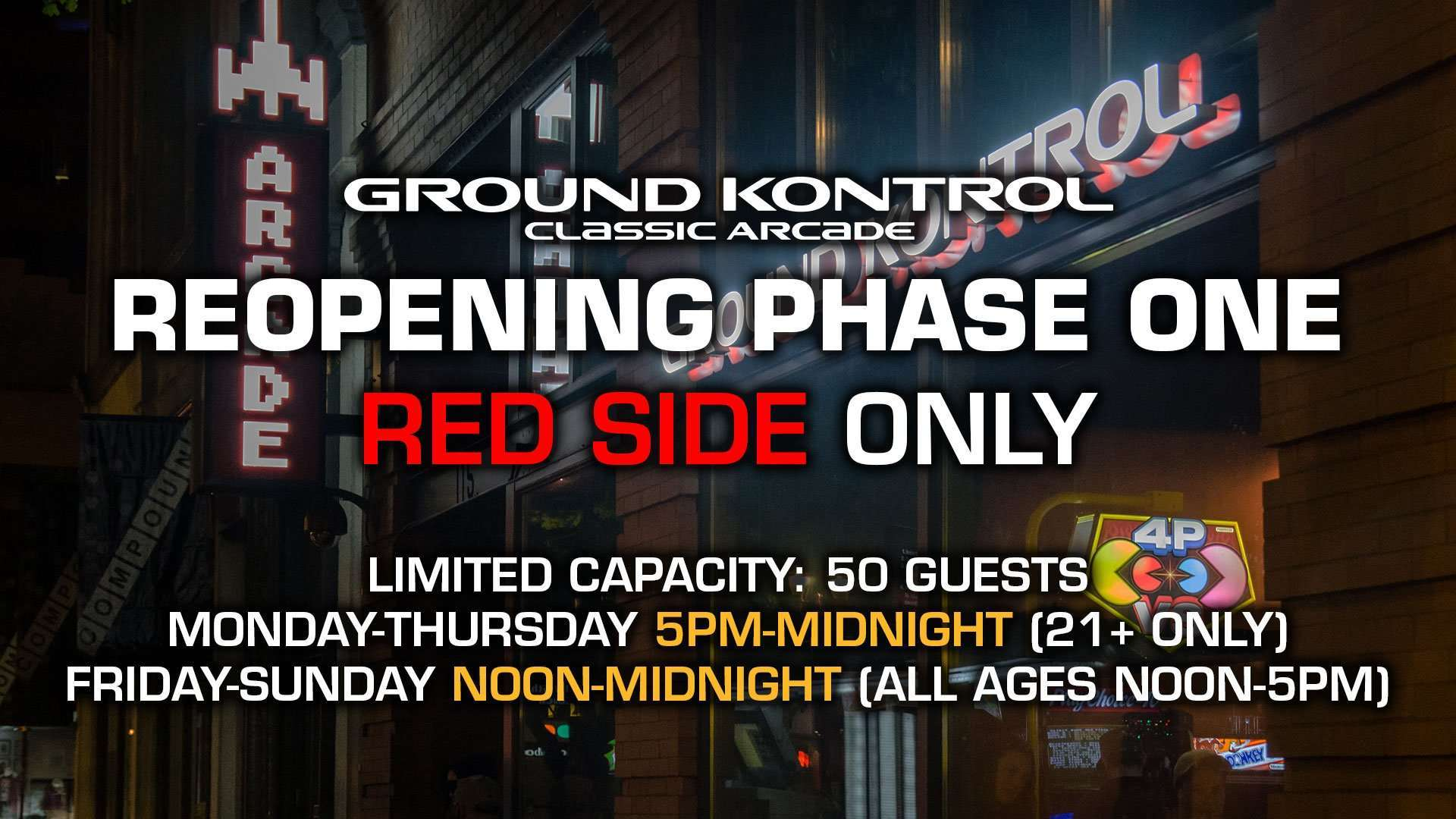 Phase One Reopening Information