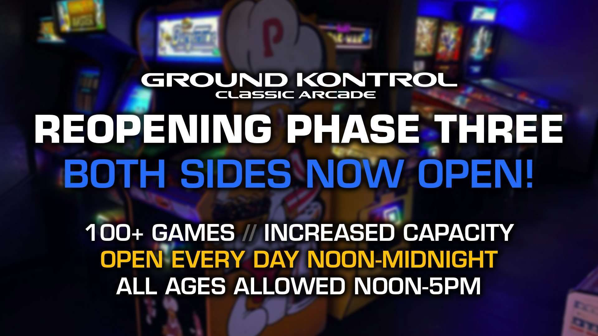 Phase Three Reopening Information